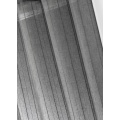Voilage étamine unie à rayures verticales (Taupe)