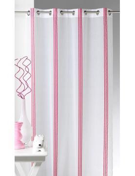Visillo a rayas verticales rosa
