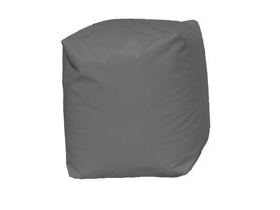 Pouf Cube Gris (Gris)