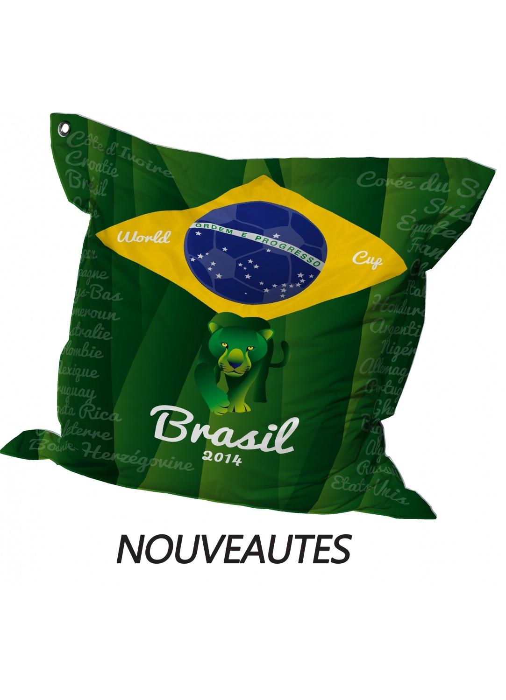 Big Coussin Coupe du monde Brasil (Vert)