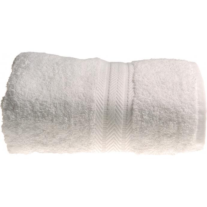 Serviette de toilette 50 x 100 cm en Coton couleur Blanc (Blanc)