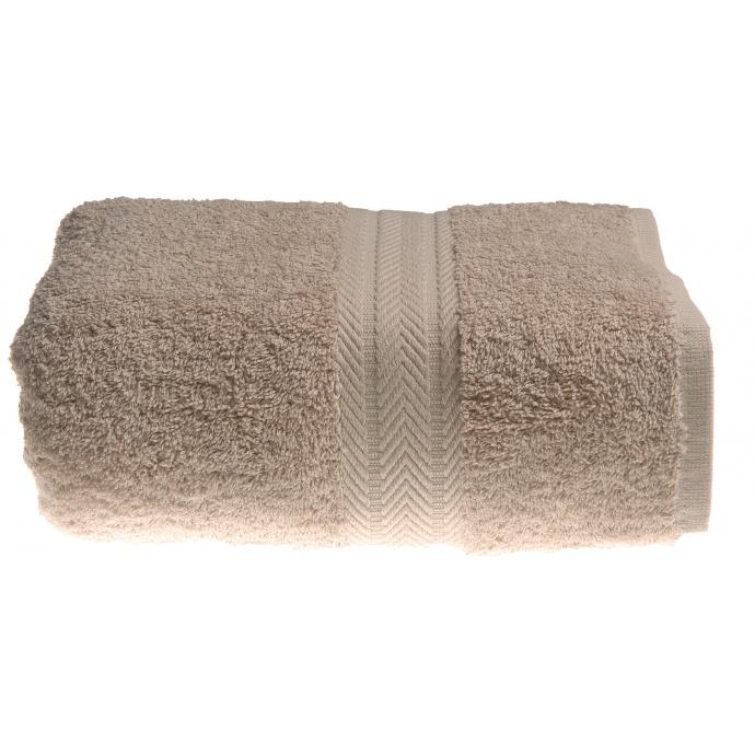 Serviette de toilette 50 x 100 cm en Coton couleur Ficelle (Ficelle)