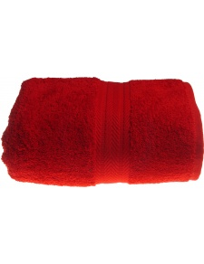 Serviette de toilette 50 x 100 cm en Coton couleur Rubis