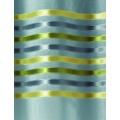Paire de voilage en étamine rayures horizontales (Anis)