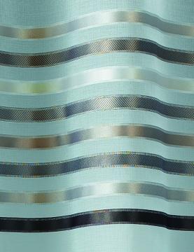 Paire de voilage en étamine rayures horizontales