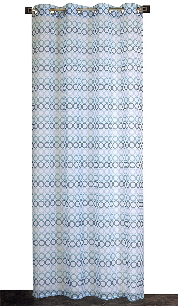 Voilage en Etamine Imprimée (Lagon)