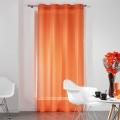 Voilage Uni Fils Coupés (Orange)