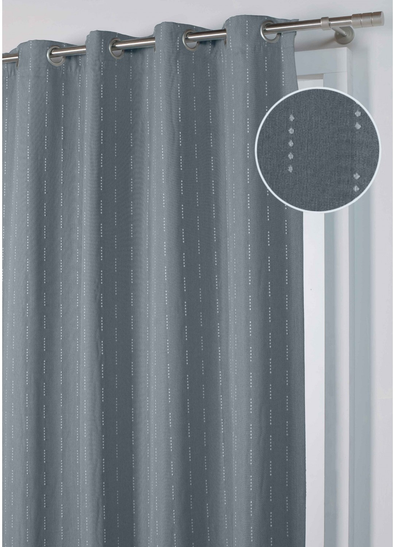 rideau jacquard obscurcissant gris bleu taupe homemaison vente en ligne rideaux. Black Bedroom Furniture Sets. Home Design Ideas