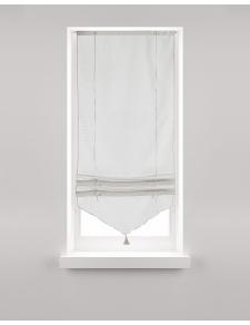 Store Relevable blanc avec Pompon