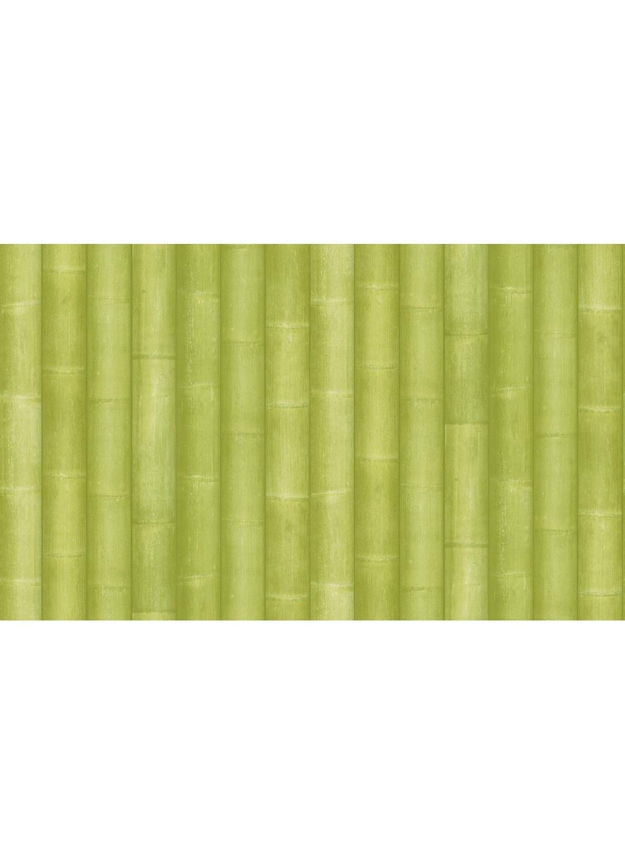 Papier Peint Imitation Bambou (Vert)
