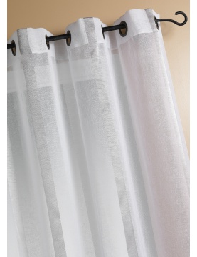 Vorhang aus Etamine mit Längststreifen