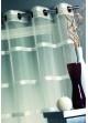 Voilage en organza rayures en shantung Taupe