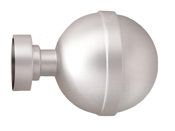 Paire d'Embouts 'sphère' pour barre Ø 28 mm (Nickel)