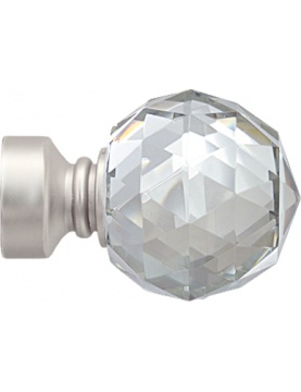 Embout 'Crystal' pour barre Ø 28 mm