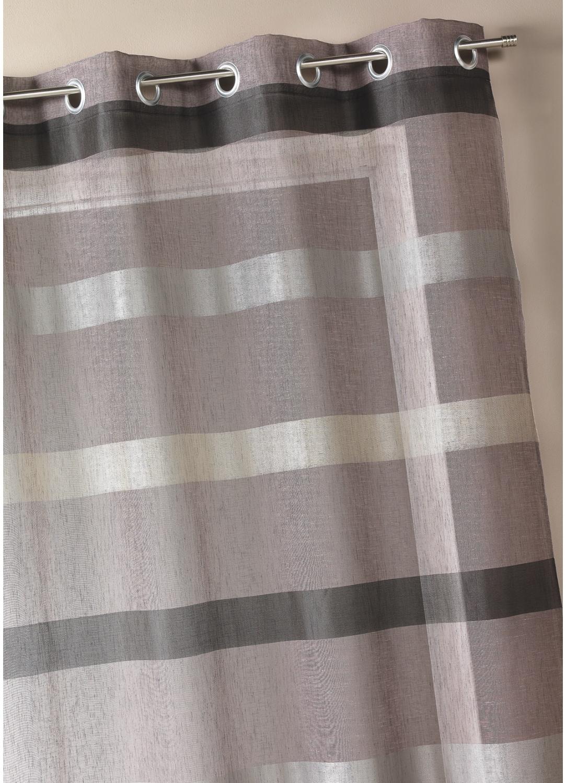Voilage tissé à rayures horizontales dégradées (Figue)