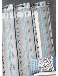 Voilage en organza à fines rayures zébrées