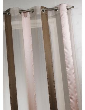 Voilage bicolore à rayures verticales