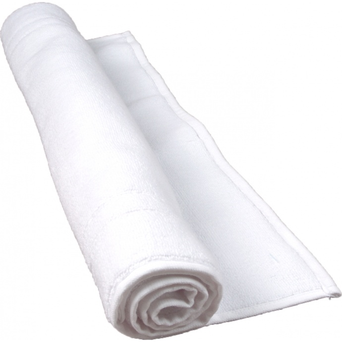 Tapis de bain 50 x 80 cm en Coton couleur Blanc (Blanc)