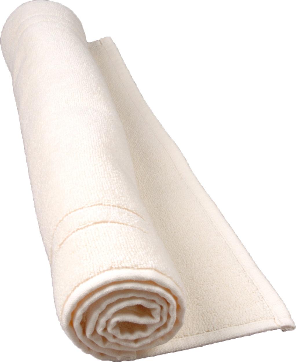 Tapis de bain 50 x 80 cm en Coton couleur Ecru (Ecru)