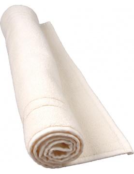 Tapis de bain 50 x 80 cm en Coton couleur Ecru