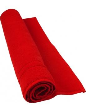 Tapis de bain 50 x 80 cm en Coton couleur Rubis