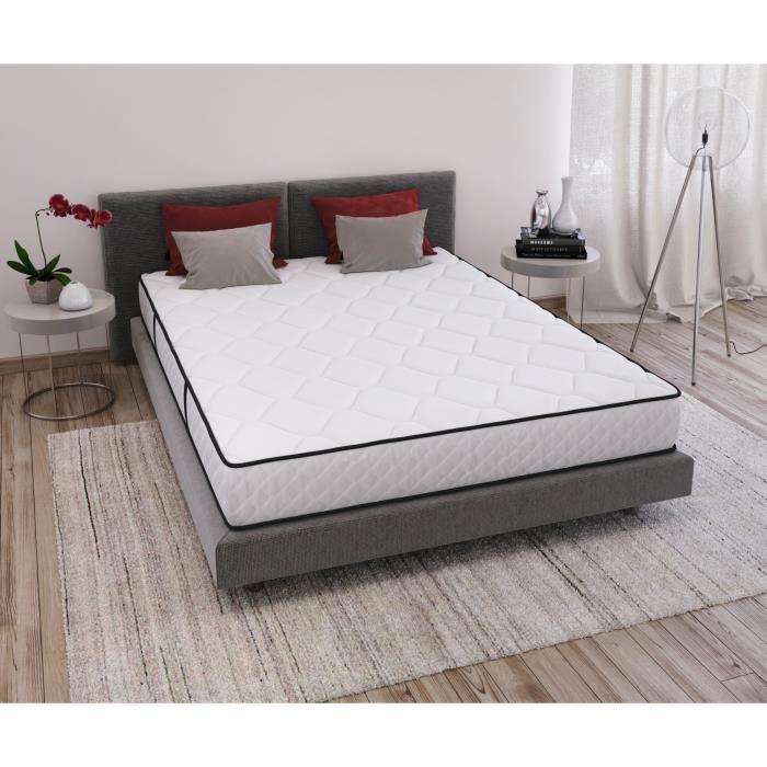 Matelas Confort Epaisseur 16 cm (Blanc)
