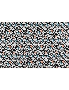 Rideau Imprimé Motifs Géométriques sur Fond Blanc
