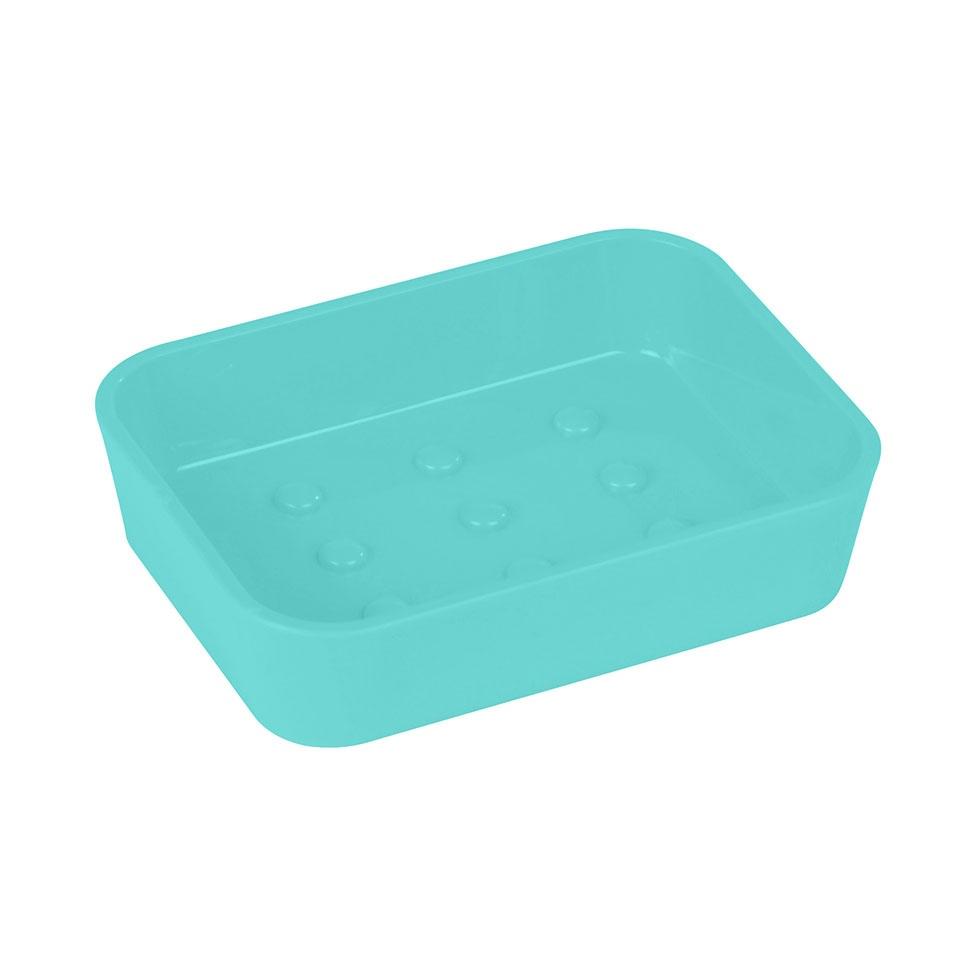 Porte-Savon Plastique Effet Toucher Doux (Vert menthe)