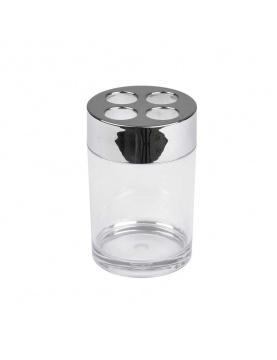 Gobelet Porte Brosse à Dent en Plastique Chromé