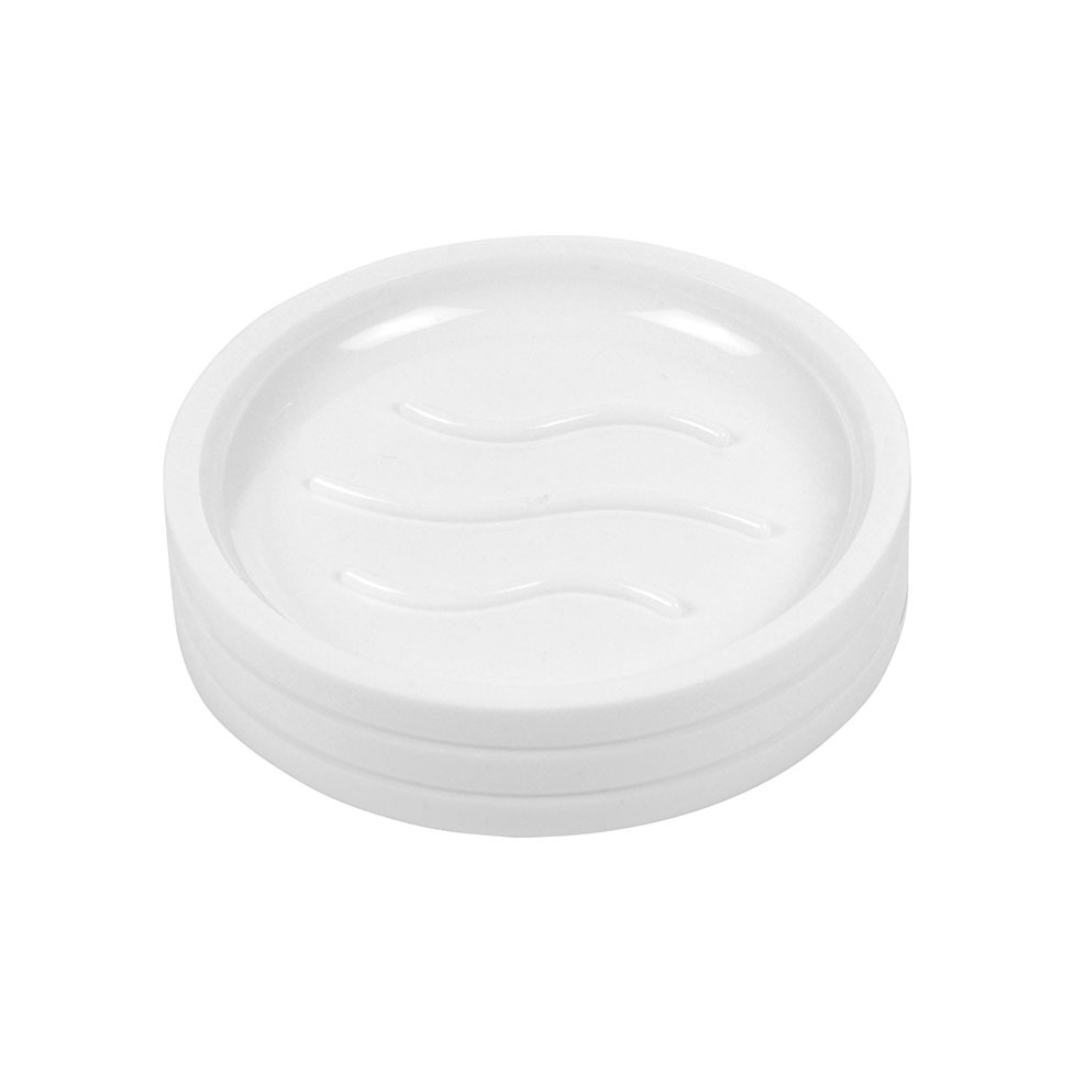Porte-Savon en Plastique Strié (Blanc)