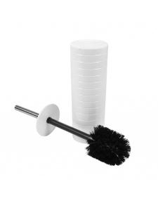 Brosse WC en Plastique Strié Manche Inox