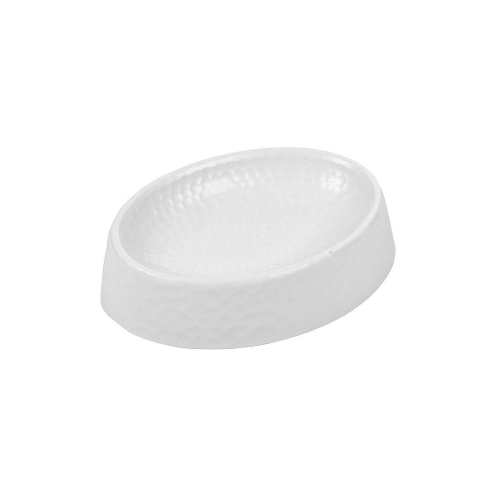 Porte-Savon en Plastique Martelé  (Blanc)