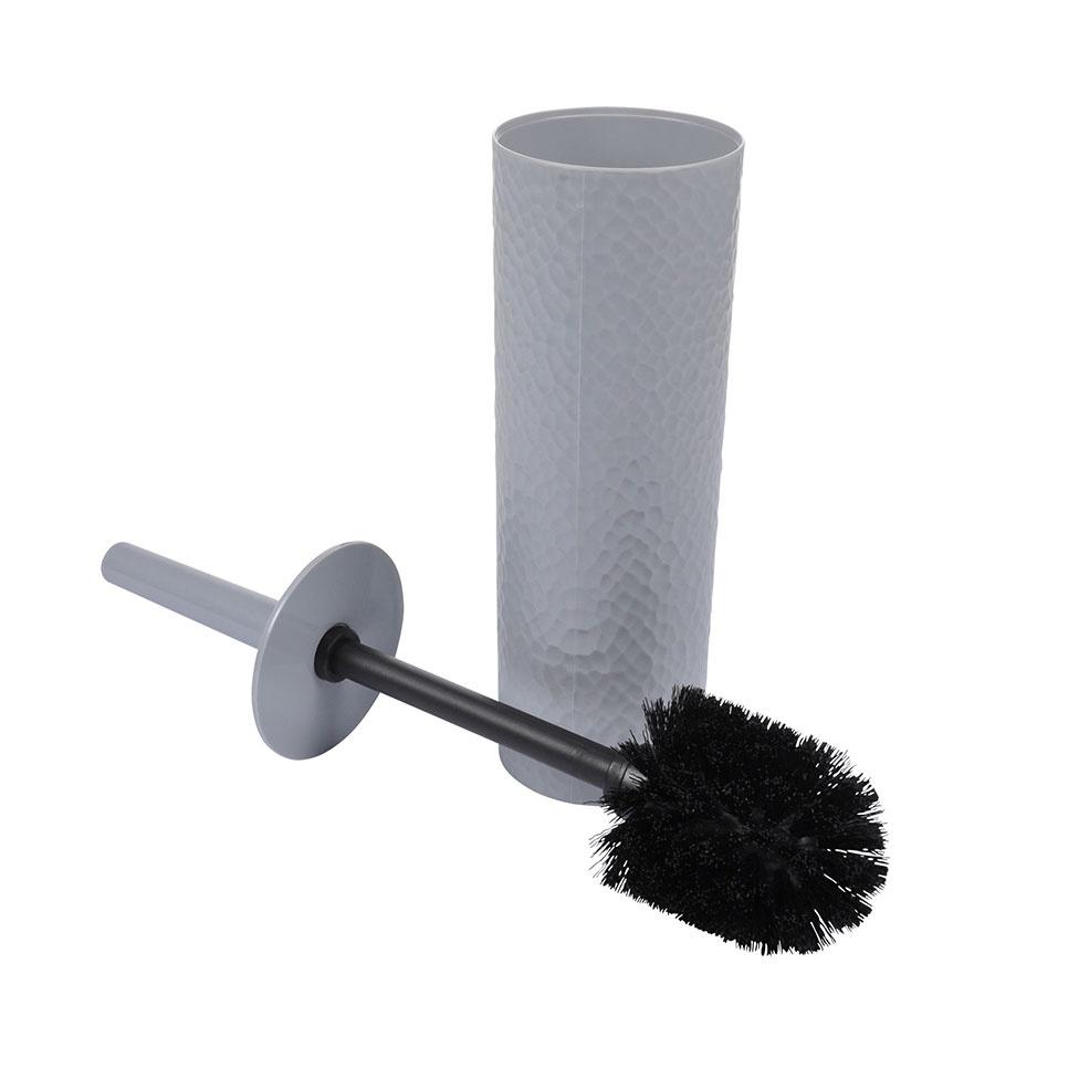 Brosse WC en Plastique Martelé (Gris clair)