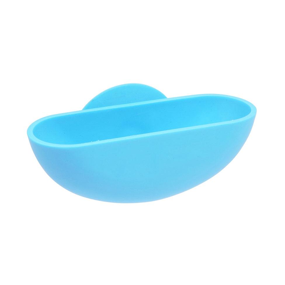 Porte-Savon à Ventouse en Plastique (Bleu océan)