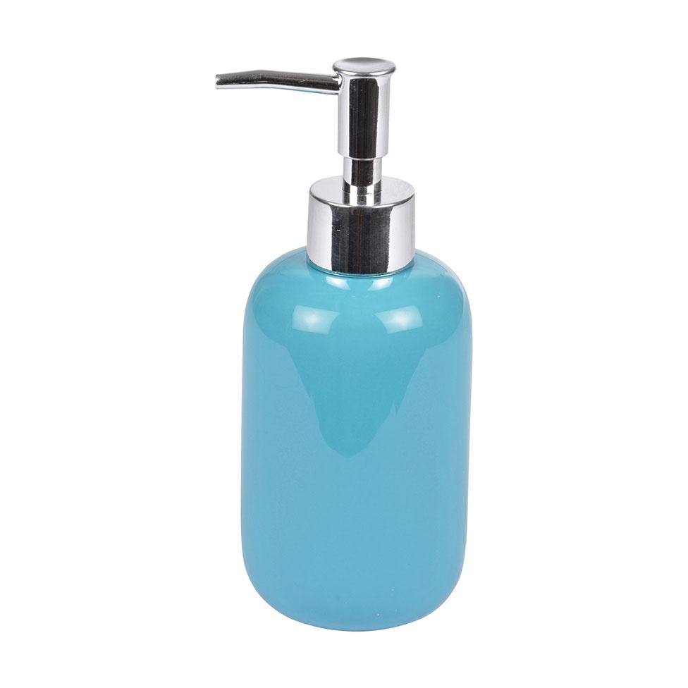 Distributeur de Savon en Céramique Colorée (Bleu océan)