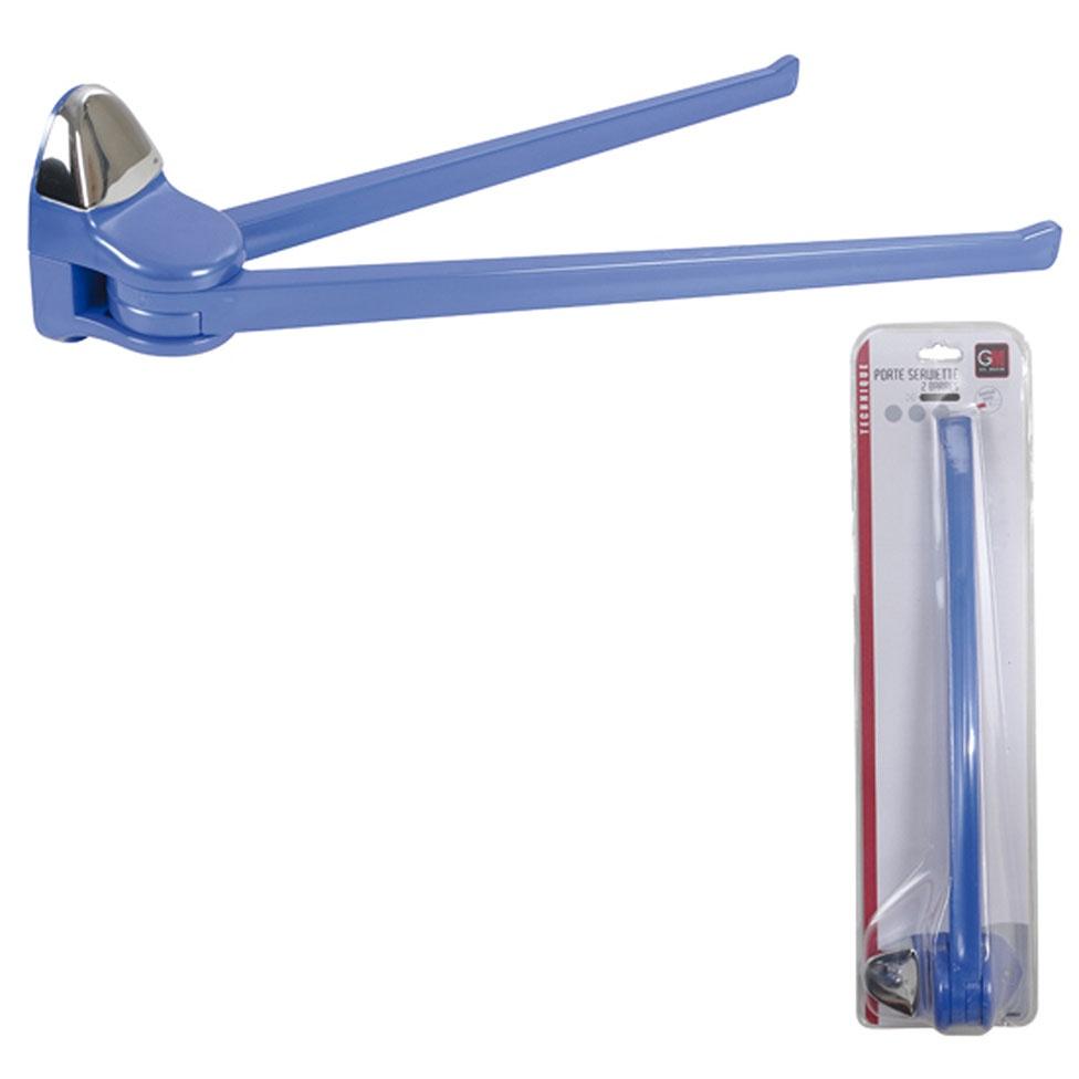 Porte-Serviette à 2 Barres Amovibles (Bleu)