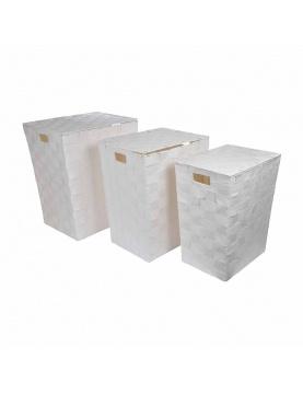 Set de 3 Coffres à  Linge en Papier Tressé