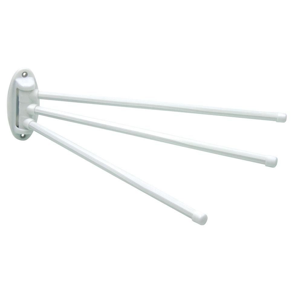 Porte-Serviette 3 Barres Amovibles (Blanc)