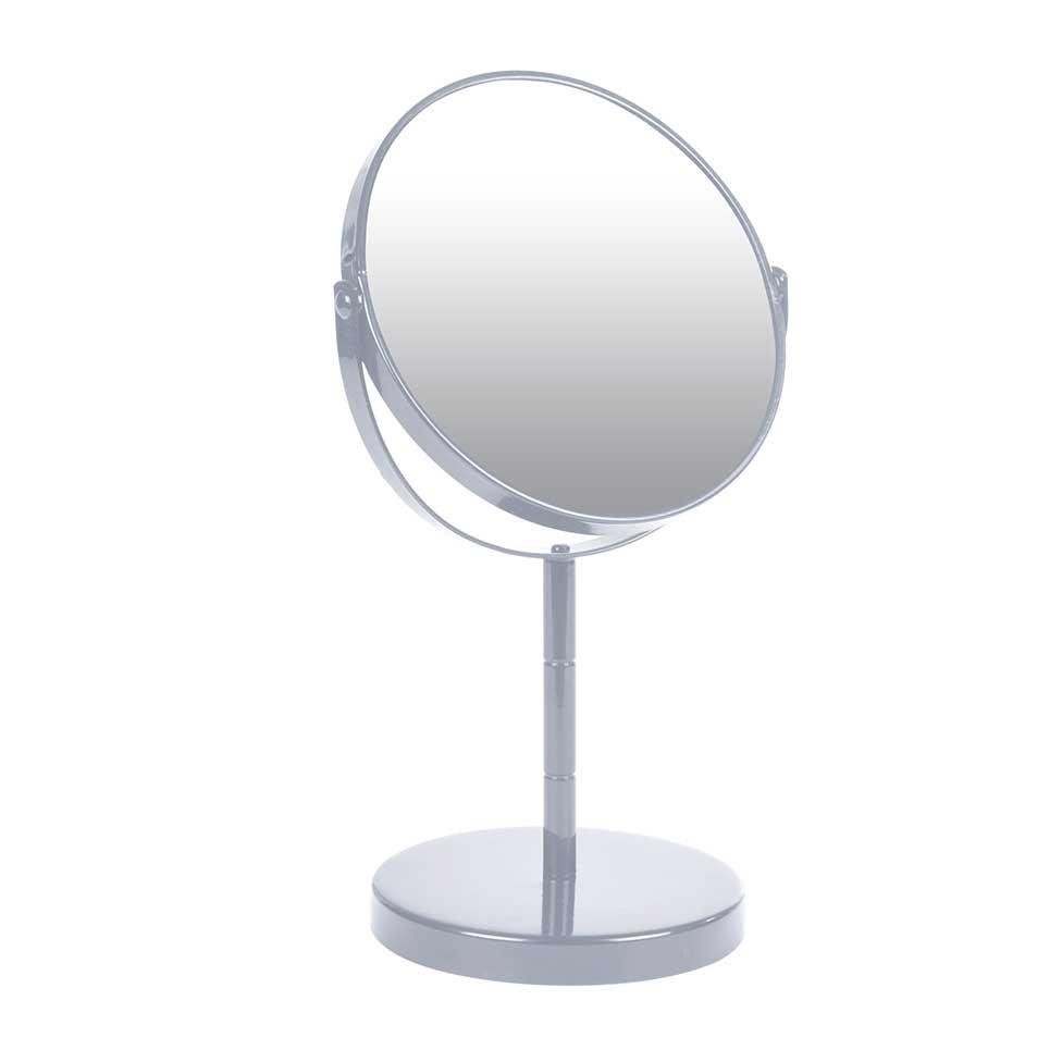 Miroir sur Pied Grossissant X1/X2 en Métal Coloré (Gris clair)
