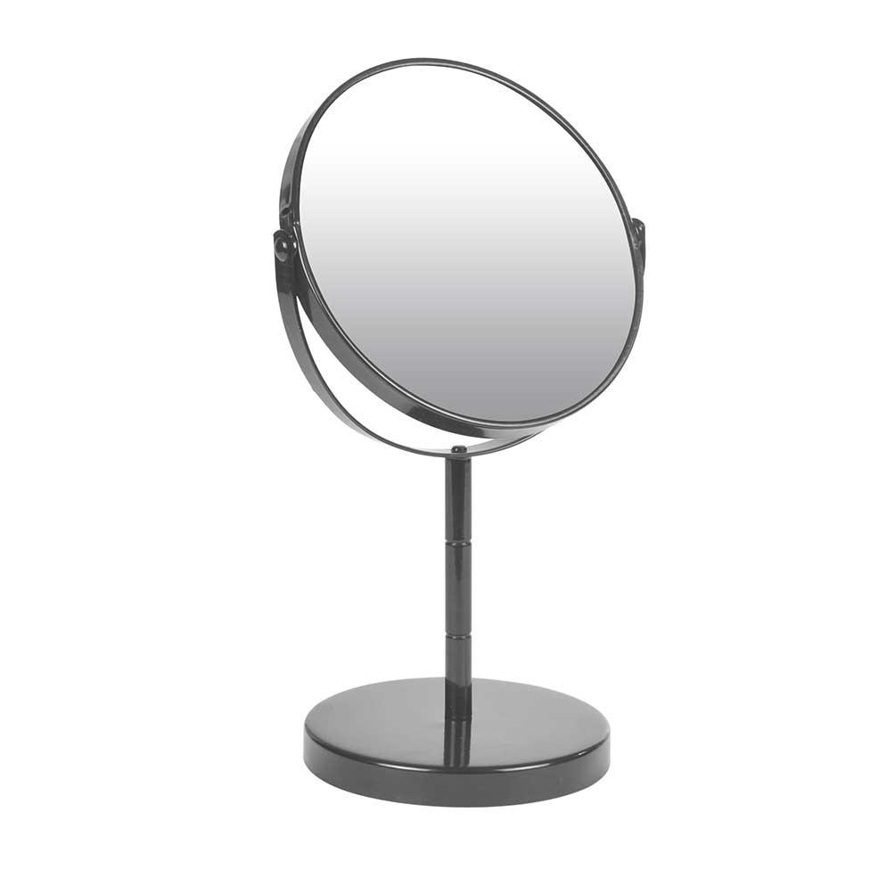 Miroir sur Pied Grossissant X1/X2 en Métal Coloré (Anthracite)