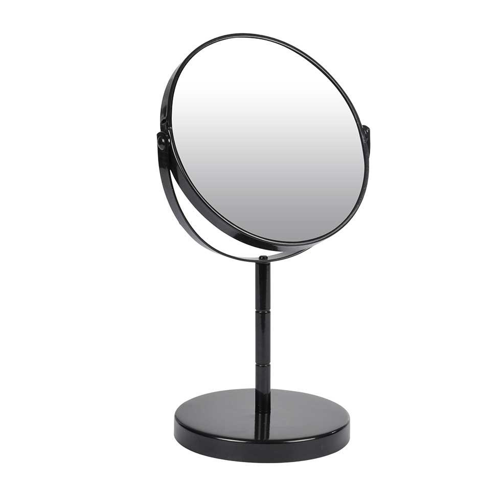 Miroir sur Pied Grossissant X1/X2 en Métal Coloré (Noir)