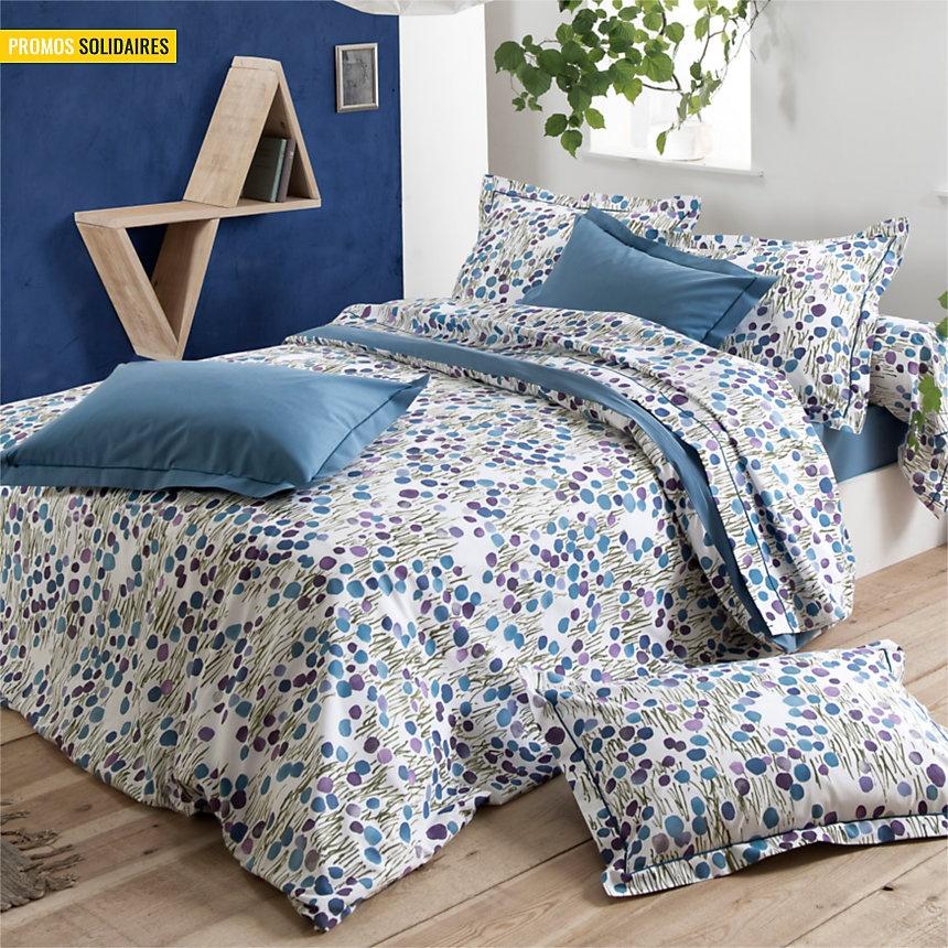 housse de couette prairie fleurie encre homemaison. Black Bedroom Furniture Sets. Home Design Ideas