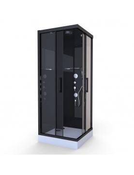 Cabine de Douche Black Mirror Carrée