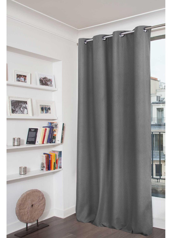 rideau aspect flanelle obscurcissant moondream fum e galet darjeelin coquille. Black Bedroom Furniture Sets. Home Design Ideas