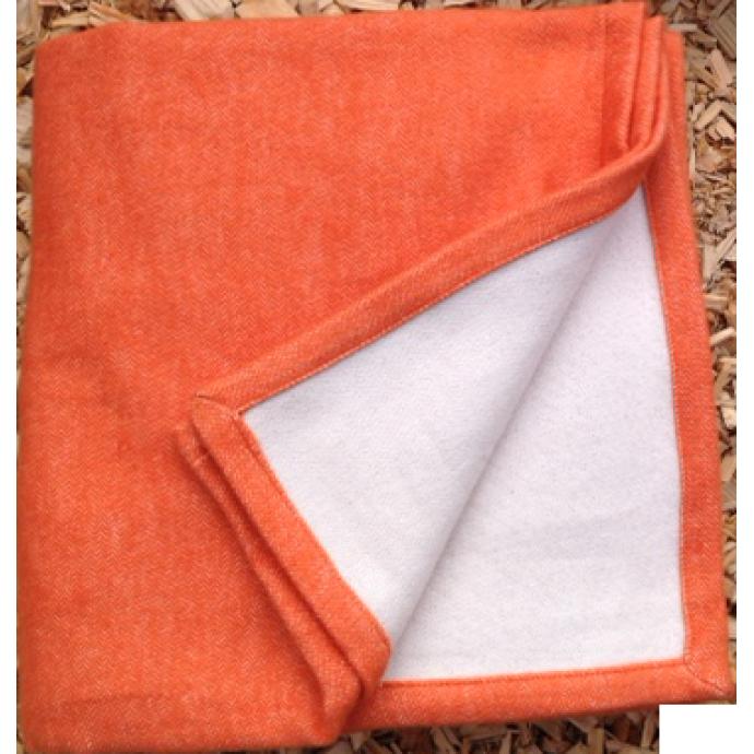 Plaid 100% Coton Coloré (Corail)