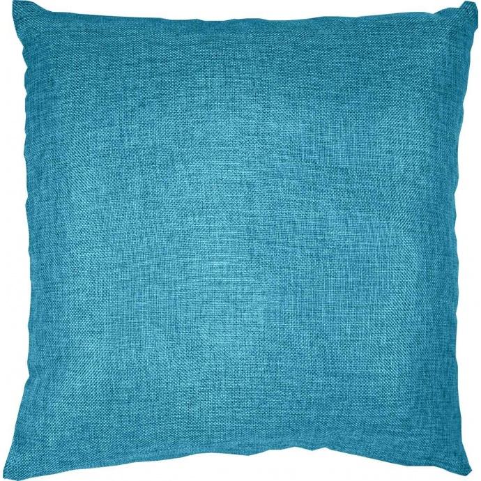 Coussin Déhoussable Effet Chiné (Turquoise)