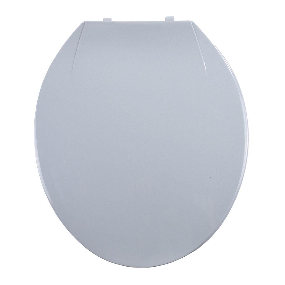 Abattant WC Coloré avec Charnières en Plastique (Gris clair)