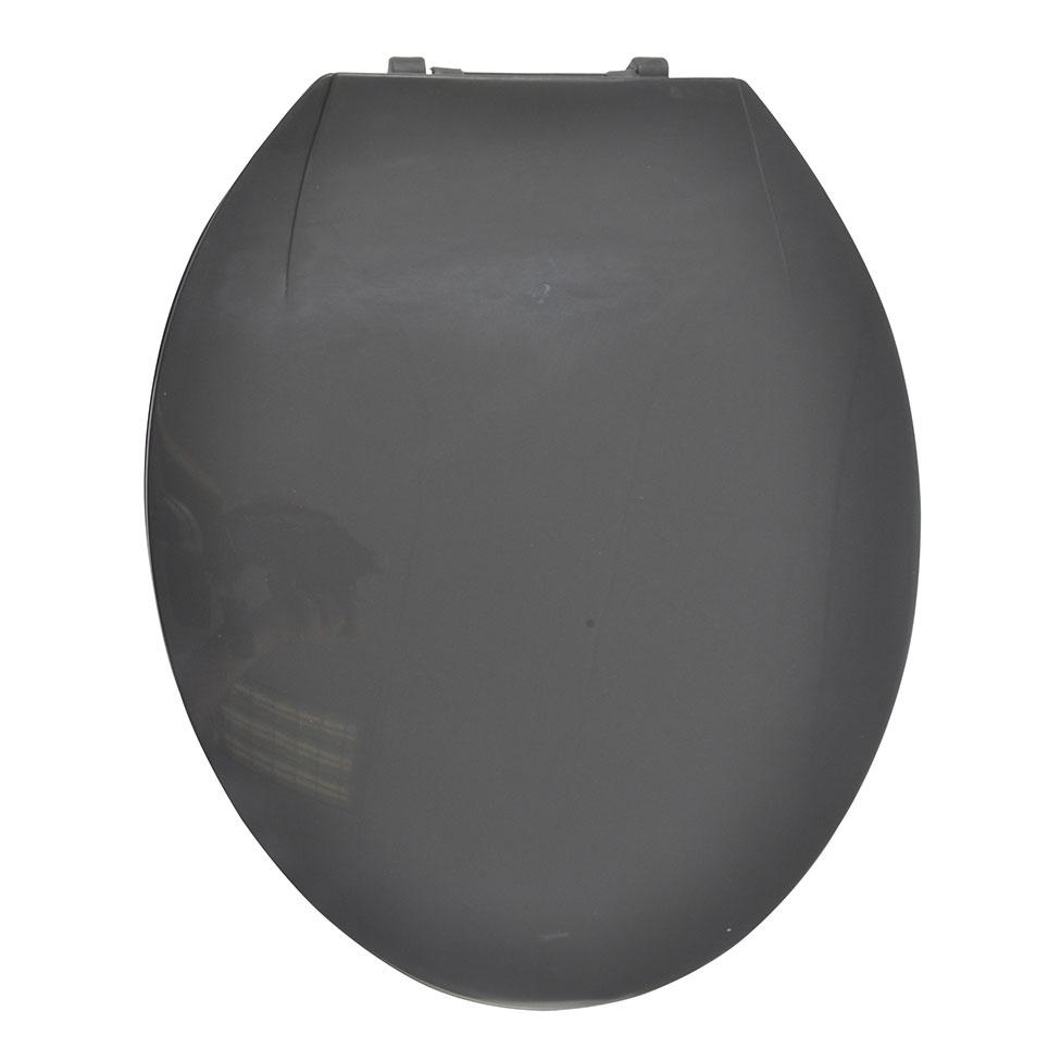 Abattant WC Coloré avec Charnières en Plastique (GRIS ANTHRACITE)