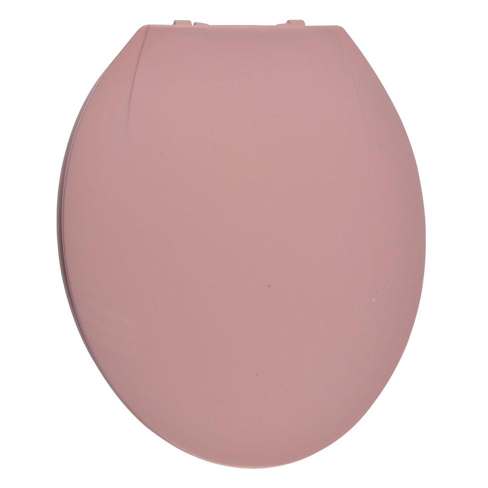 Abattant WC Coloré avec Charnières en Plastique (Rose)