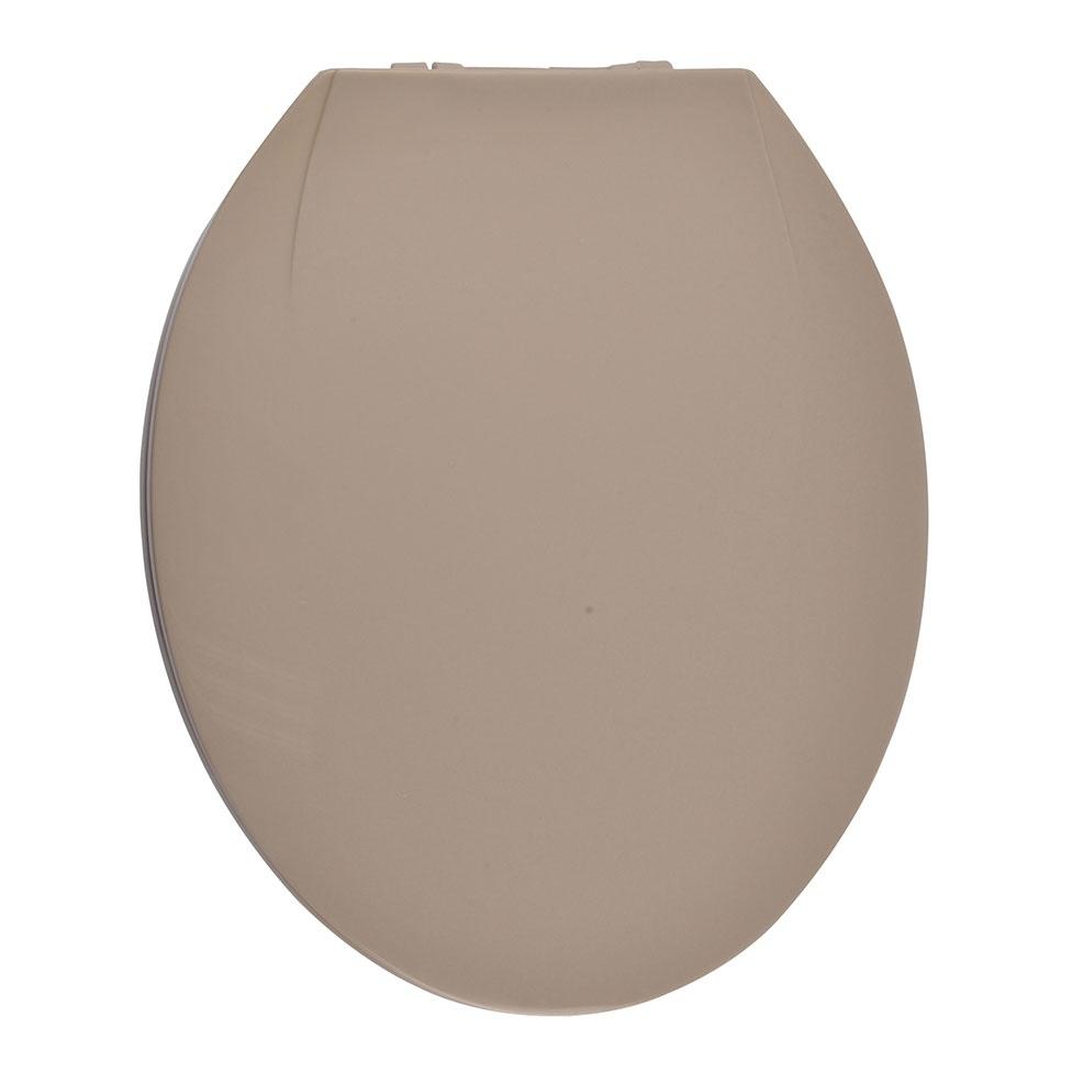Abattant WC Coloré avec Charnières en Plastique (Taupe)